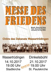 Flyer Messe des Friedens